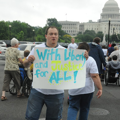 Liberty and Justice for ALL 2012 sign