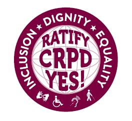 CRPD Sticker: Ratify CRPD Yes!