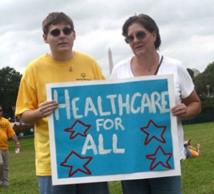 Healthcare For All Sign at the 2011 My Medicaid Matters Rally