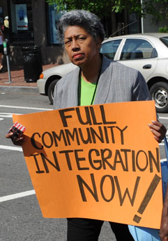 Full Community Integration Now 2009 protest sign