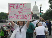 Force Is Not Recovery 2012 protest sign