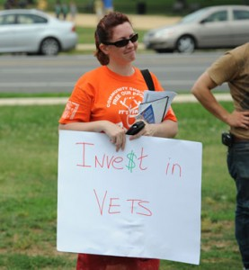 Invest in Vets 2008 protest sign