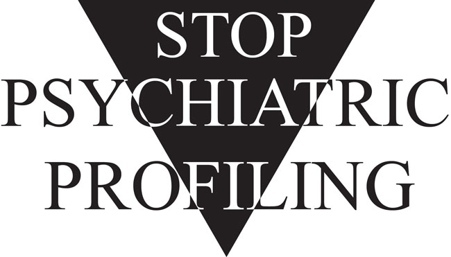 Stop Psychiatric Profiling Logo