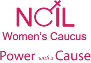Womens Caucus Logo: Power with a Cause