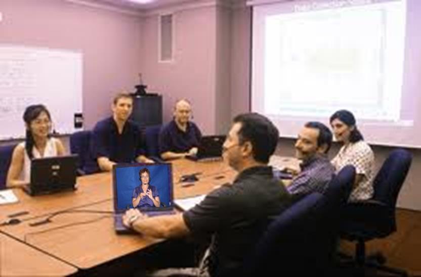 People using virtual interpreting