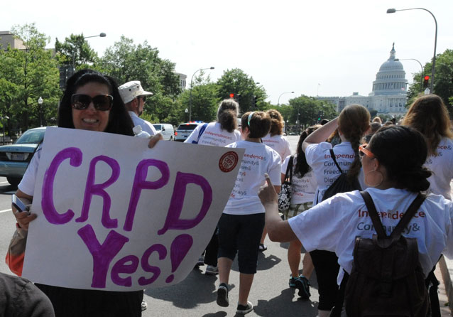 CRPD YES Sign - 2014 NCIL March