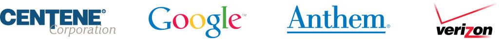 Top Sponsor Logos - Centene, Google, Anthem, Verizon