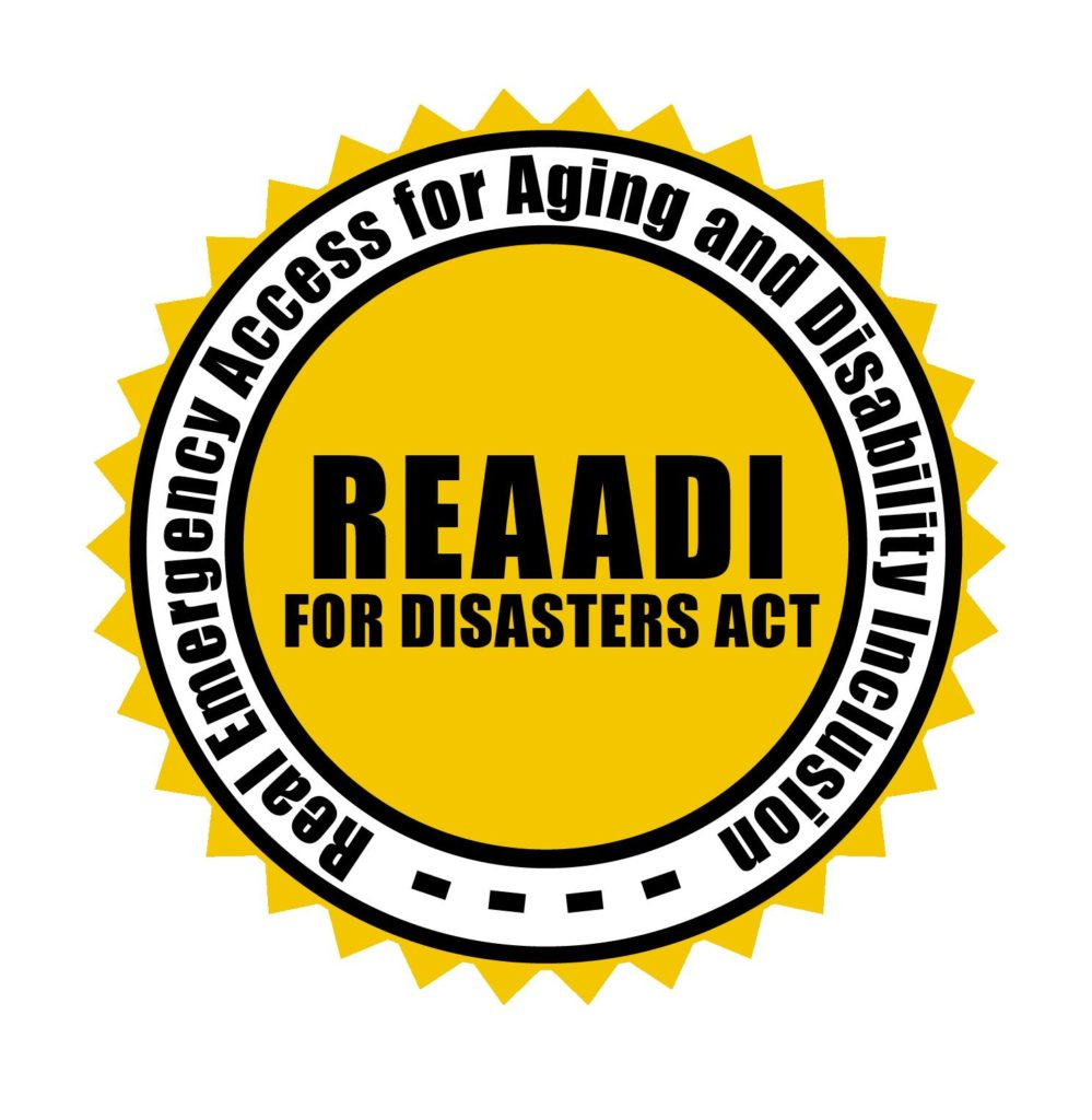 REAADI for Disasters Act Logo - Real Emergency Access for Aging and Disability Inclusion