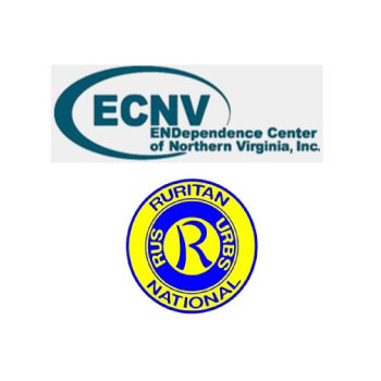 ECNV ENDependence Center of Northern Virginia and Sterling Ruritan Club Logos
